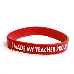 I Made My Teacher Proud Wristband, 25/pkg