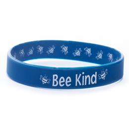 Two-way Blue Wristband - Bee Kind