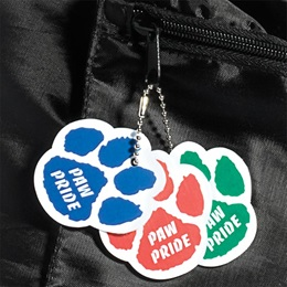 Custom Paw Bag Tag
