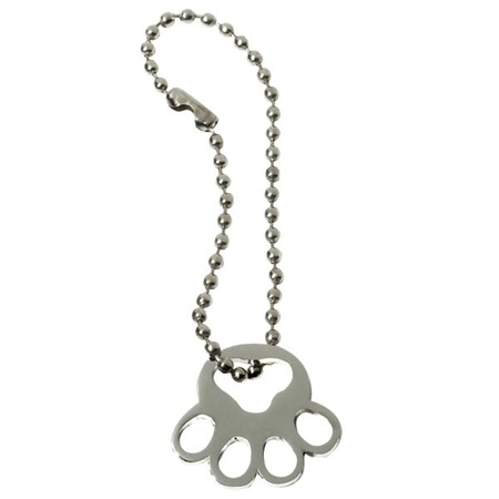 Silver Paw Charm with Chain