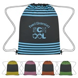 Striped Drawstring Backpack