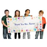 Custom Vinyl Banner - Handprints