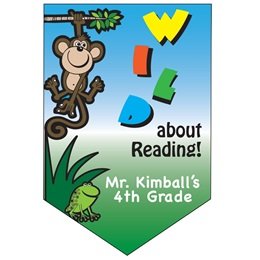 Wild About Reading Custom Pennant Banner