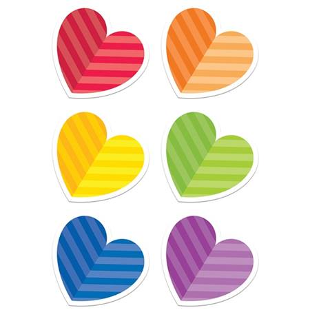 Rainbow Hearts Cut Out Set