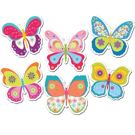 Colorful Butterfly Cut Out Set