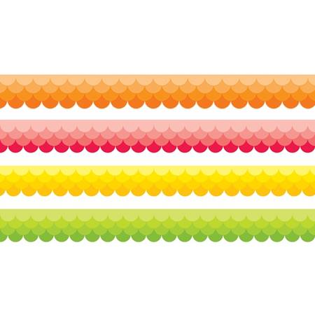 Classroom Display Border Pack - Warm Ombre Scallops