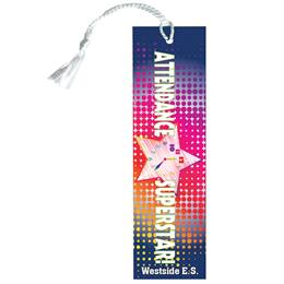 Custom Bookmark - Attendance Super Star Clock