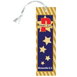 Custom Bookmark - Gold Star Principal's Award