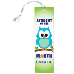 Custom Bookmark - Student of the Month/Owls