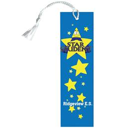 Custom Bookmark - Star Student With Gold Stars