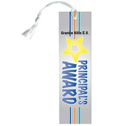 Custom Bookmark - Starburst Principal's Award