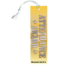 Custom Bookmark - Gold Star Attendance Award