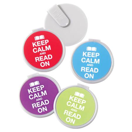 Clip-on Bookmarks - Keep Calm and Read On
