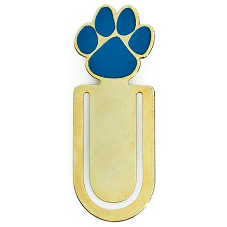 Paw Clip Bookmark - Gold/Blue