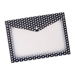 Poly Folder With Snap - Black and White Dots