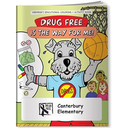 Coloring Book - Drug Free is the Way For Me