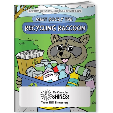 Coloring Book - Rocky the Recycling Raccoon
