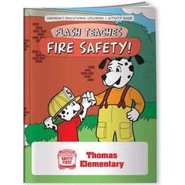 Coloring Book - Flash Teaches Fire Safety