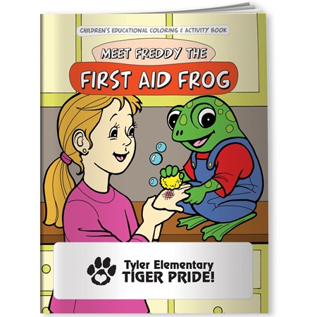 Coloring Book - Meet Freddy the First Aid Frog
