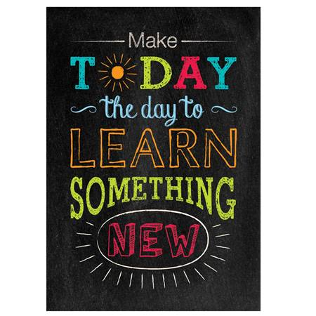Chalkboard Poster - Make Today the Day to Learn
