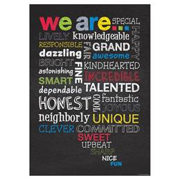 Chalkboard Poster - We Are...