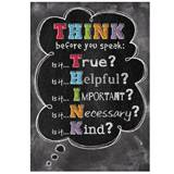 Chalkboard Poster - Think Before You Speak