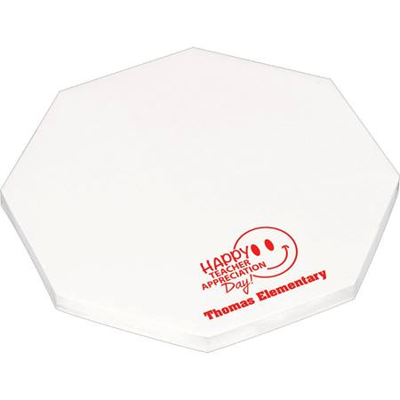 "4"" by 4"" Die Cut Adhesive Octagon Notepad"