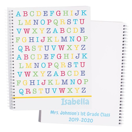 Personalized Notebook - Alphabet