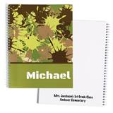Personalized Notebook - Green Splatter