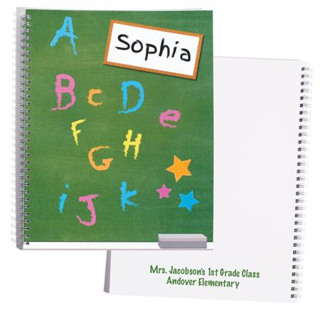 Personalized Notebook - ABC Chalkboard