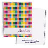 Personalized Notebook - Rainbow Blocks