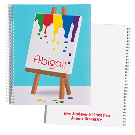 Personalized Notebook - Art Easel