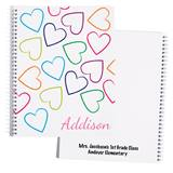 Personalized Notebook - Colored Hearts