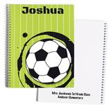 Personalized Notebook - Green Soccer