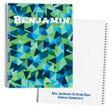 Personalized Notebook - Blue Mosaic