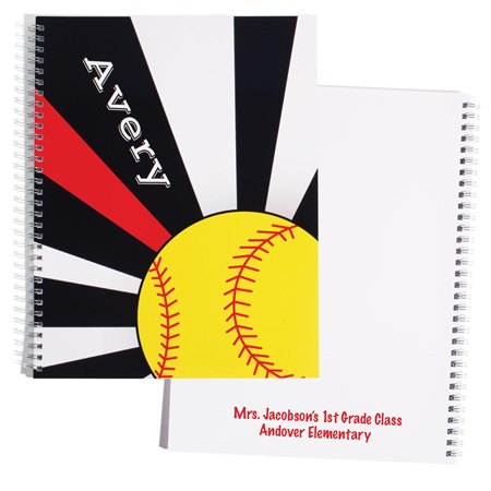 Personalized Notebook - Softball