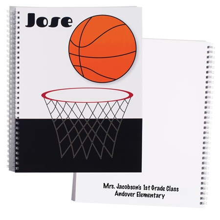 Personalized Notebook - Basketball Hoop