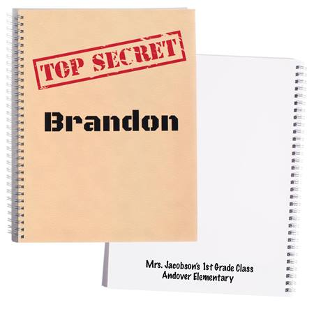 Personalized Notebook - Top Secret