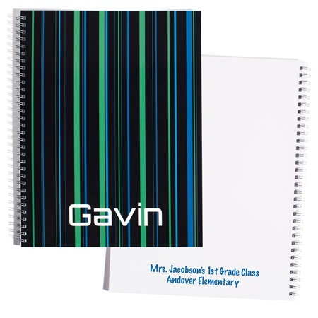 Personalized Notebook - Colored Lines