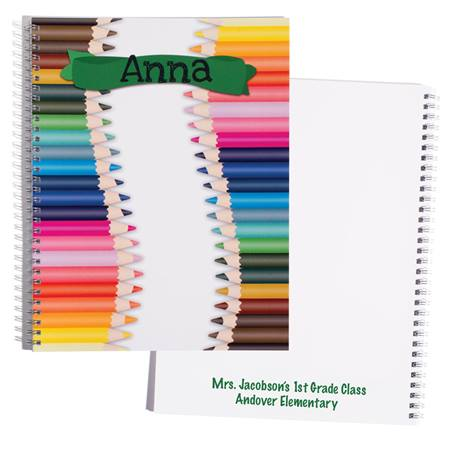 Personalized Notebook - Colored Pencils
