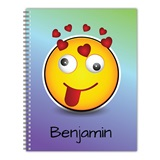 Personalized Emoji Notebook - Crazy Hearts