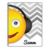 Personalized Emoji Notebook - Music Mania