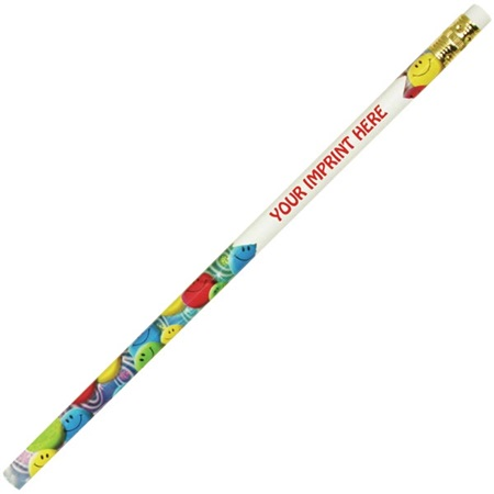 Custom Pencil - Colorful Smiley Faces