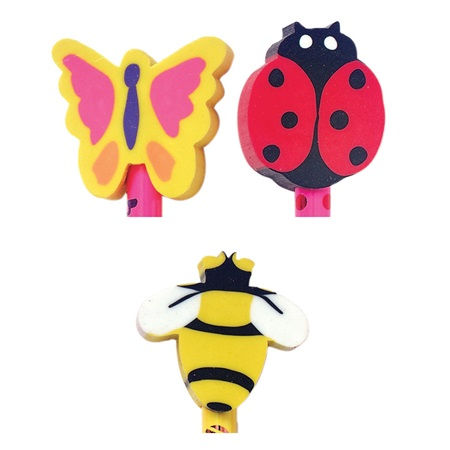 Springtime Fun Pencil Topper Erasers