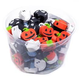 Pencil Top Erasers - Halloween, 108/pkg