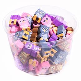 Pencil Top Erasers - Owls, 108/pkg