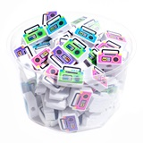 Pencil Top Erasers - Boom Boxes, 108/pkg
