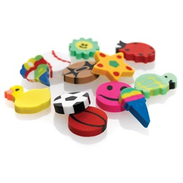 Assorted Mini Erasers, 144/pkg