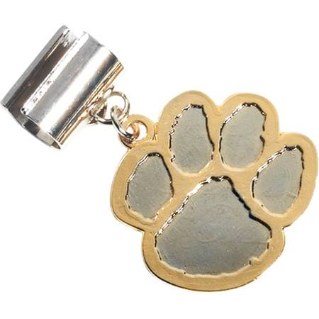 Pencil Charm - Silver/Gold Paw