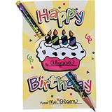 Happy Birthday Pencil Card, 36/pkg